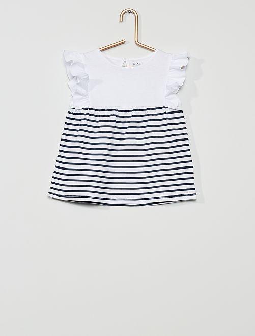 Camiseta 'eco-concepción'                             a rayas azul