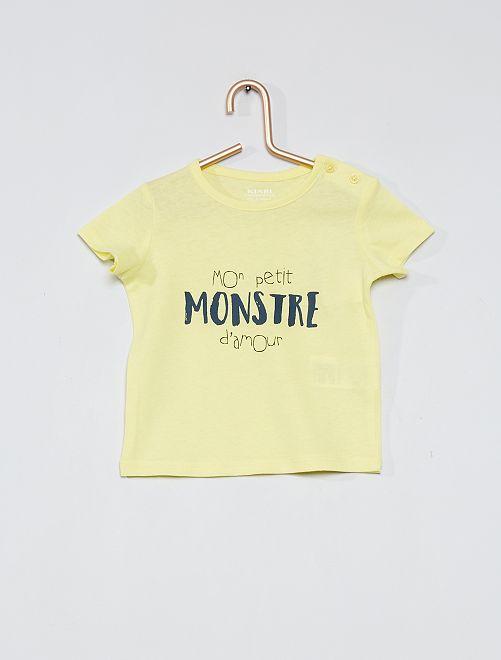 Camiseta 'eco-concepción'                                                                             AMARILLO
