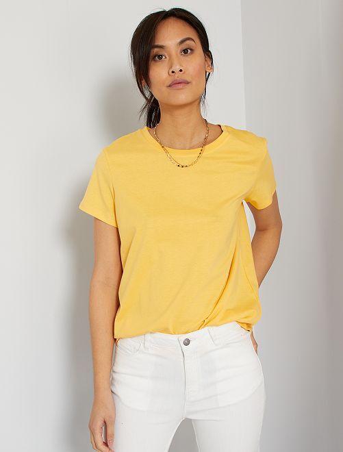 Camiseta eco-concepción                                                                                                                                                     amarillo crema