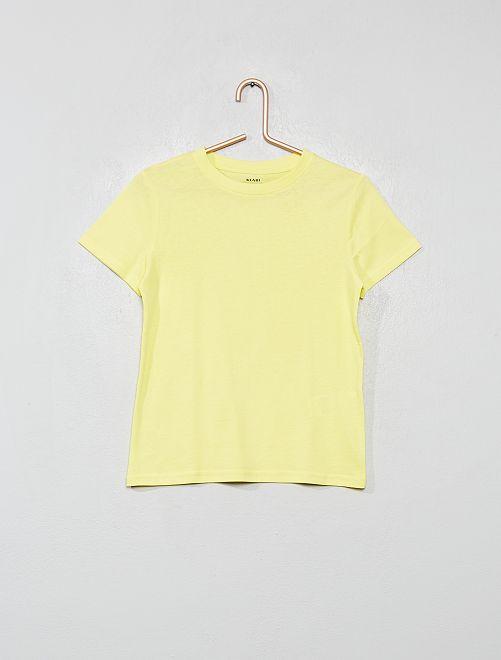 Camiseta eco-concepción                                                                                         amarillo