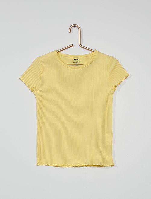 Camiseta eco-concepción                                                                 amarillo suave