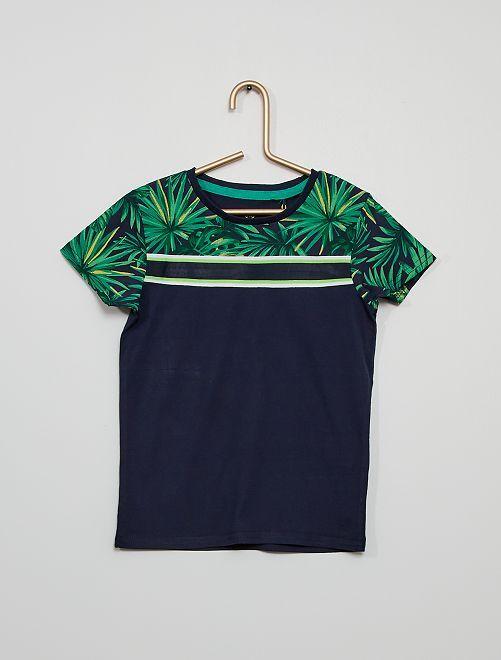 Camiseta eco-concepción                                         azul marino