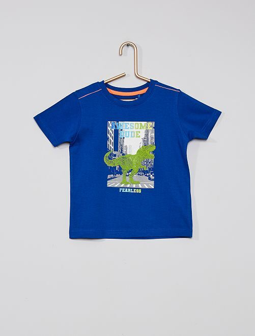 Camiseta eco-concepción                                         azul