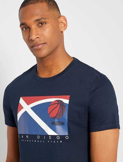 Camiseta eco-concepción 'baloncesto'                                                                                                                                                                                                                                                                 AZUL