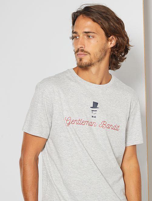 Camiseta eco-concepción 'bandido'                                                                                                                                                                                                     GRIS
