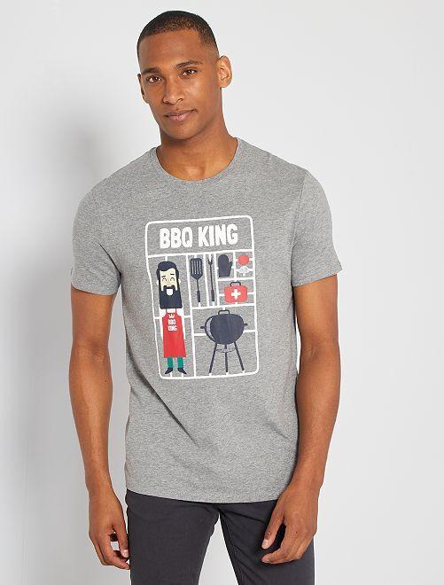 Camiseta eco-concepción 'BBQ'                                                                                                                                                                                                                                                                 GRIS