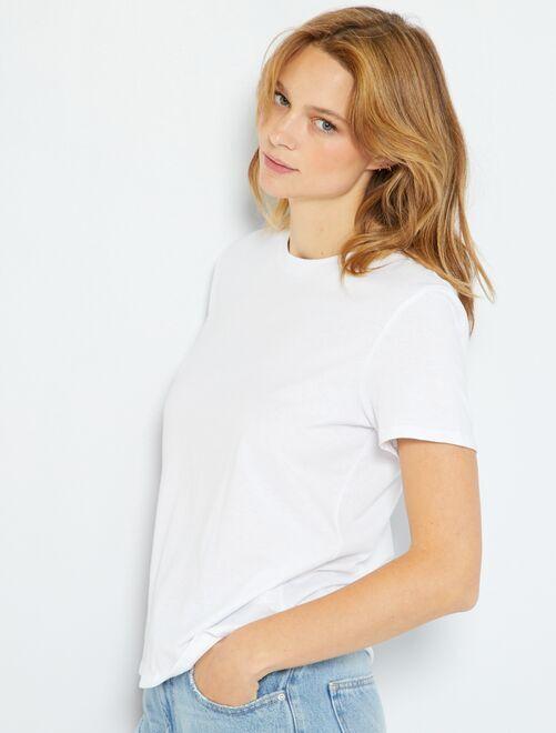 Camiseta eco-concepción                                                                                                                                                     blanco