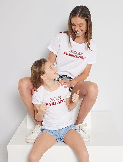 Camiseta 'eco-concepción' con estampado de corazón                                                     BLANCO