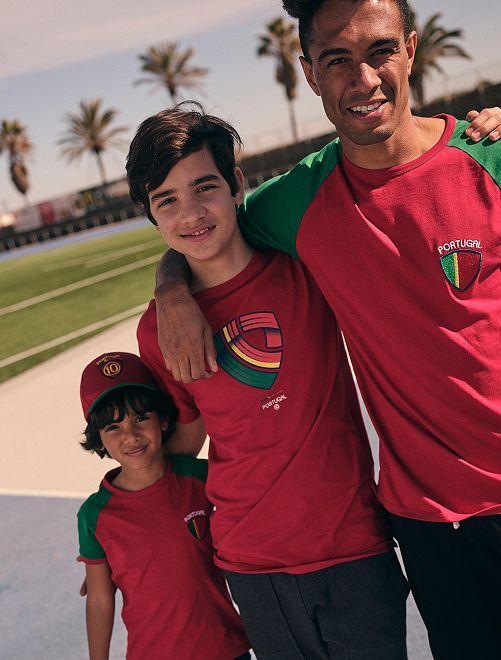 Camiseta eco-concepción con estampado de fútbol Portugal                                         ROJO