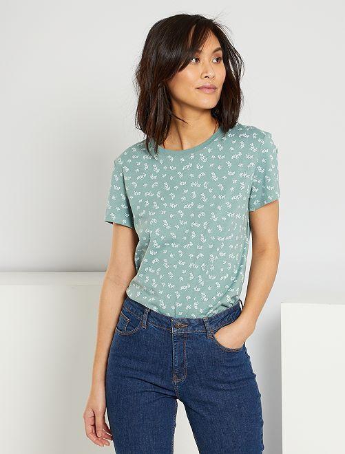 Camiseta eco-concepción 'corazones'                                                                                                                                                                                                                                                                                         VERDE