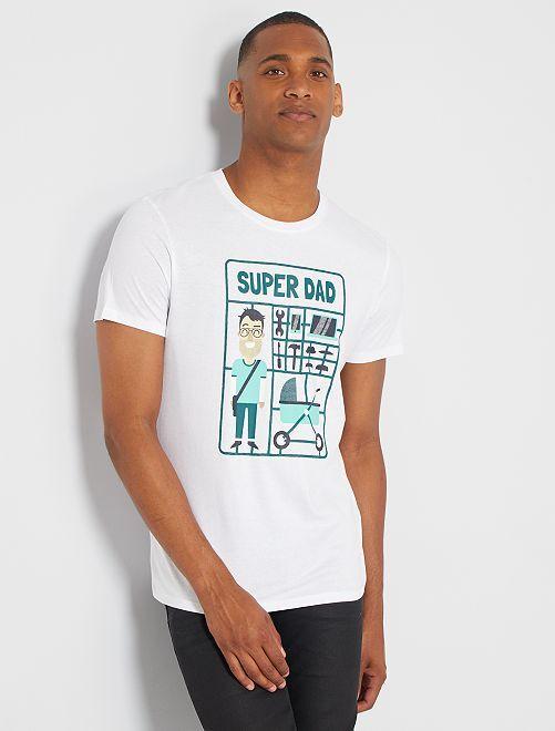 Camiseta eco-concepción 'Dad'                                                                                                                                                                                                                                                                 BLANCO