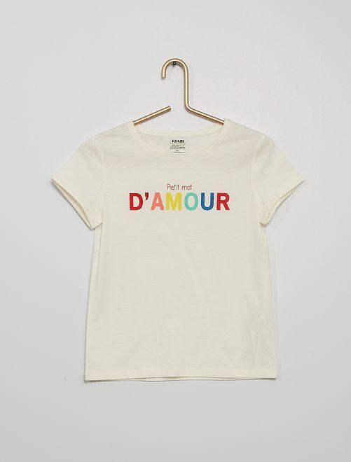 Camiseta eco-concepción 'Día de la Madre'                             BLANCO