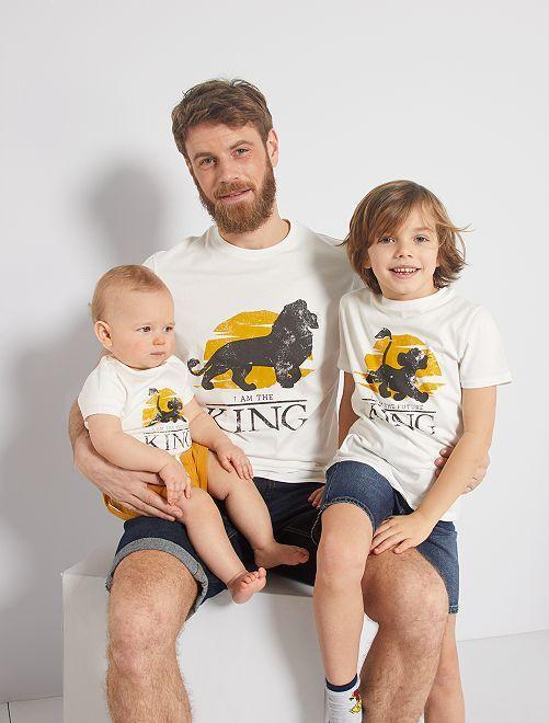 Camiseta 'eco-concepción' 'El Rey León'                             BLANCO