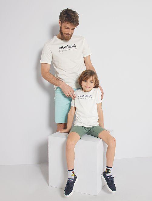 Camiseta 'eco-concepción' 'Encantador'                                         BLANCO