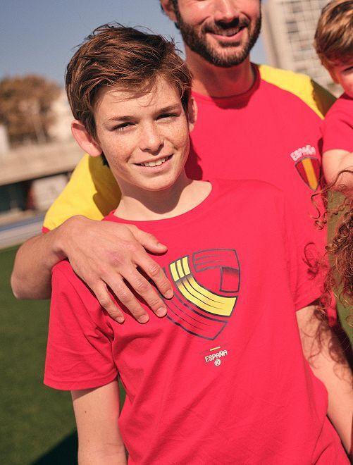 Camiseta 'eco-concepción' estampado fútbol España                                         ROJO