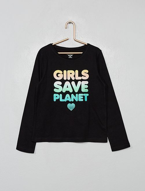 Camiseta 'eco-concepción' fantasía                                                                 NEGRO