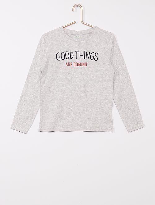 Camiseta eco-concepción                                                         GRIS