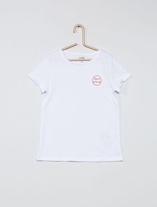 Camiseta 'eco-concepción' 'palmeras'                     BLANCO