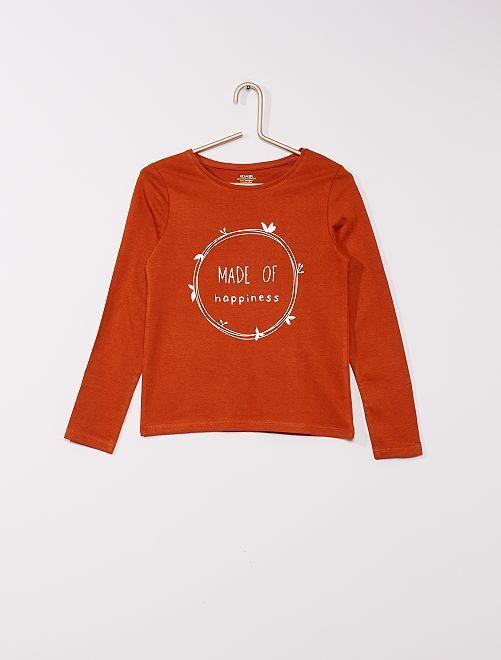 Camiseta eco-concepción                                                                                                                                         MARRON