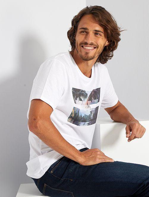 Camiseta eco-concepción 'Miami'                                                                                                                                                                                                                                                                 BLANCO