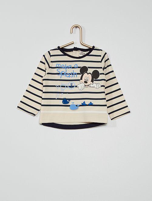 Camiseta eco-concepción 'Mickey'                                         beige