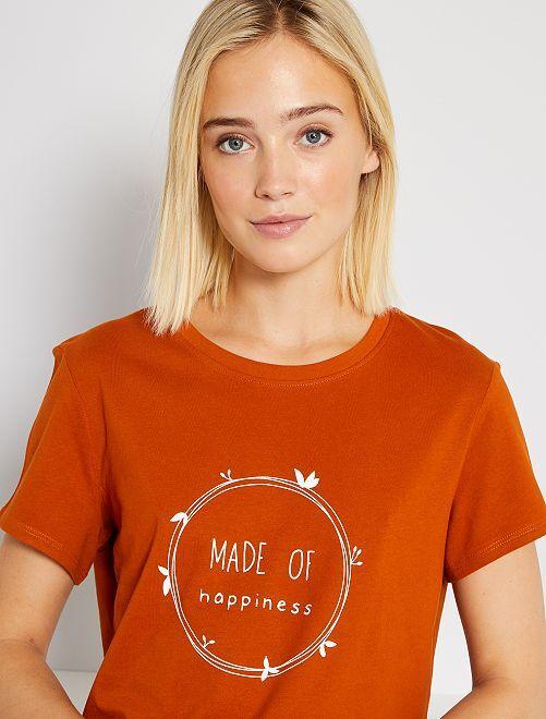 Camiseta eco-concepción                                                                                                                 NARANJA