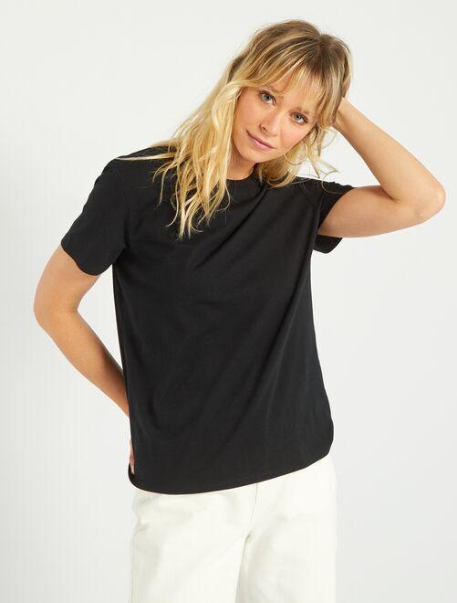 Camiseta eco-concepción                                                                                                                             negro