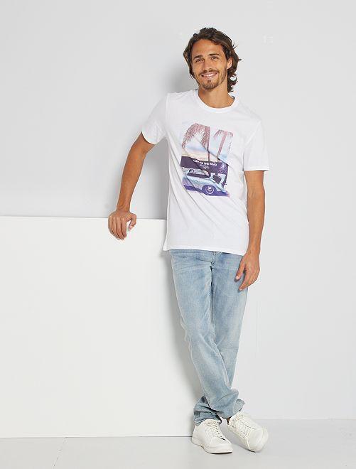 Camiseta eco-concepción 'road'                                                                                                                                                                                                                                                                 BLANCO