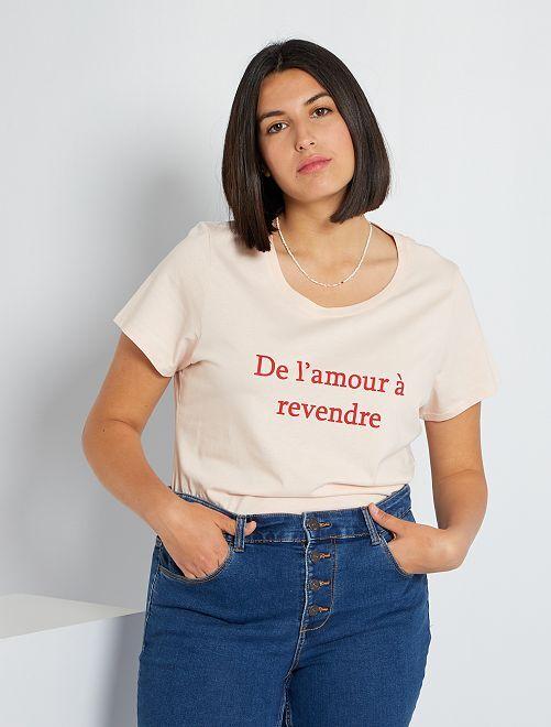 Camiseta 'eco-concepción'                                                                                                                                                                                                                                                                                                                                                                             ROJO