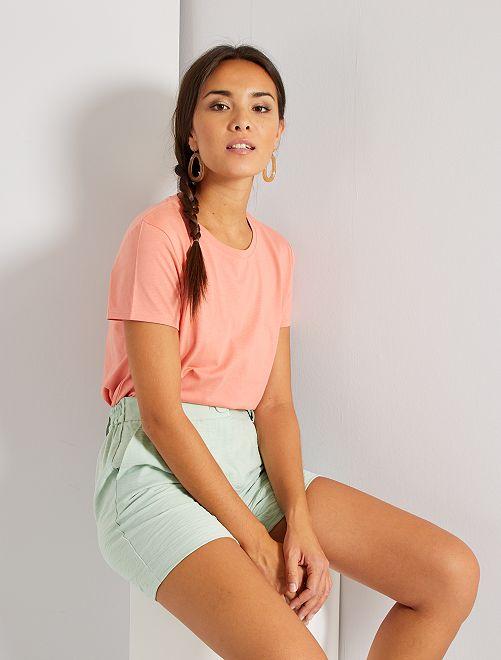 Camiseta eco-concepción                                                                                                                                                                 rosa coral