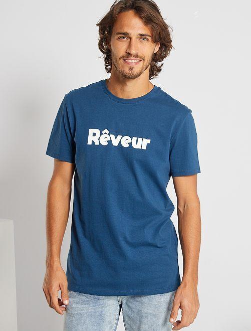 Camiseta eco-concepción 'Soñador'                                                                                                                 AZUL