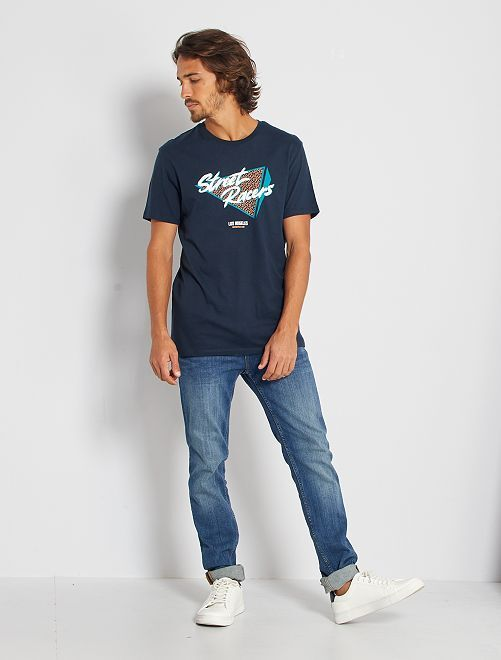 Camiseta eco-concepción 'street racers'                                                                                                                                                                                                                                                                 AZUL