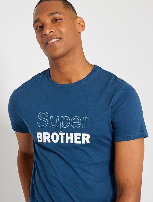 Camiseta 'eco-concepción' 'Super Brother'                                                                                                                 AZUL