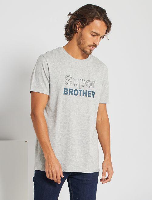Camiseta 'eco-concepción' 'Super Brother'                                                                             GRIS