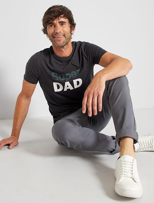Camiseta 'eco-concepción' 'Super Dad'                                                                                                                 NEGRO