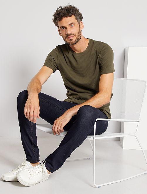 Camiseta eco-concepción textura                                                                 KAKI