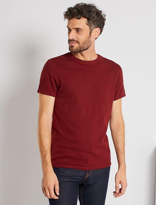 Camiseta eco-concepción textura                                                                 ROJO