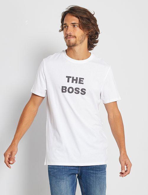 Camiseta eco-concepción 'The Boss'                                                                                                                 BLANCO
