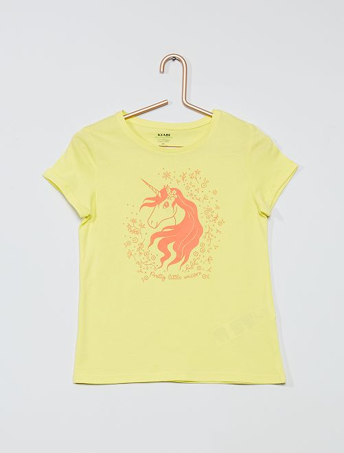 Camiseta 'eco-concepción' 'unicornio'                                                                                         AMARILLO