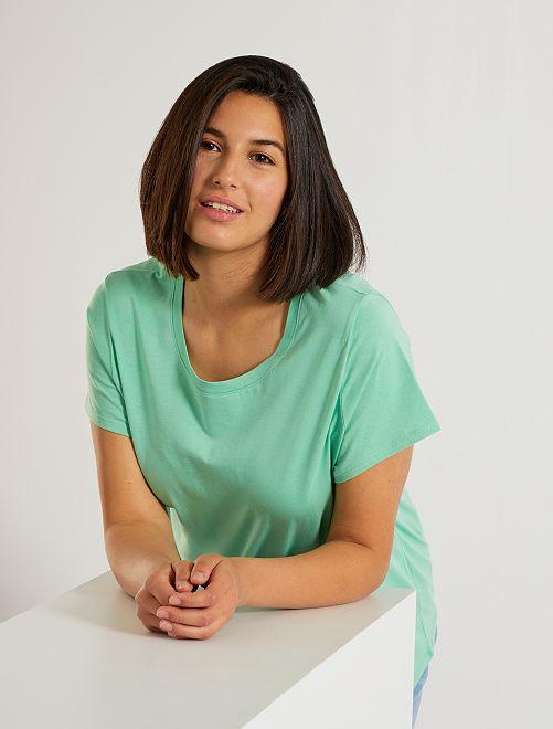Camiseta 'eco-concepción'                                                                                                                                                                                                                                                                                                                                                                 verde pastel