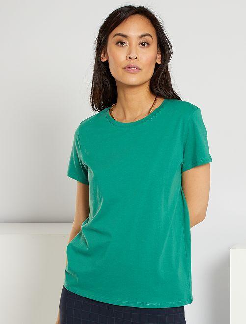 Camiseta eco-concepción                                                                                                                                         verde pino