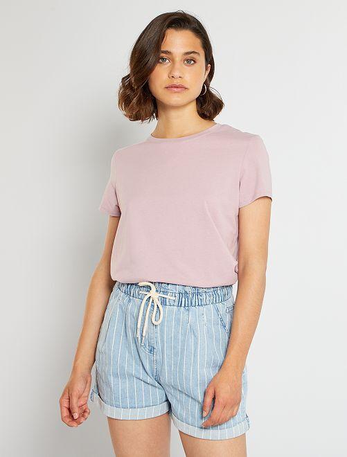 Camiseta eco-concepción                                                                                                                                                     violeta oscuro