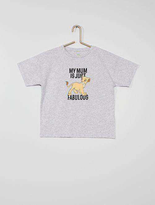 Camiseta 'El Rey León' eco-concepción                                                     GRIS