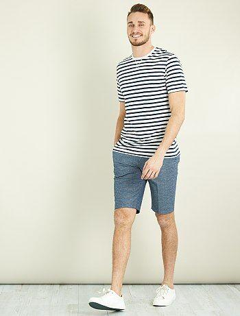 Tallas grandes hombre - Camiseta entallada a rayas +1m90 - Kiabi
