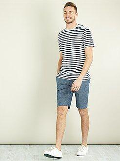 Hombre de mas de 1'90m - Camiseta entallada a rayas +1m90 - Kiabi
