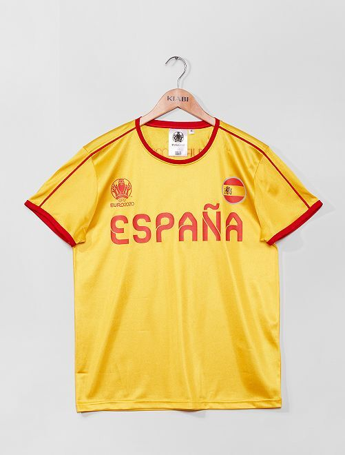 Camiseta 'España Euro 2020'                             amarillo