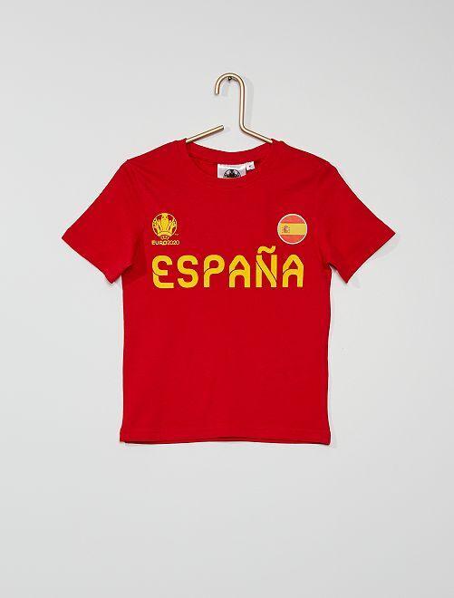 Camiseta 'España' 'UEFA Euro 2020'                                         rojo
