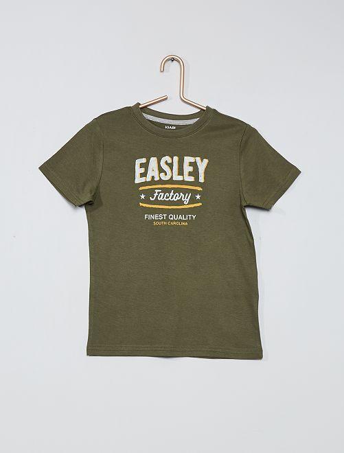 Camiseta estampada 100 % algodón                                                                             KAKI