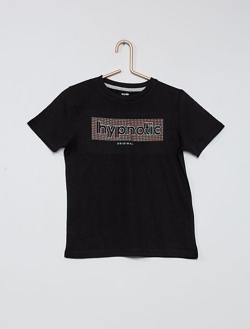 Camiseta estampada 100 % algodón                                                                             NEGRO