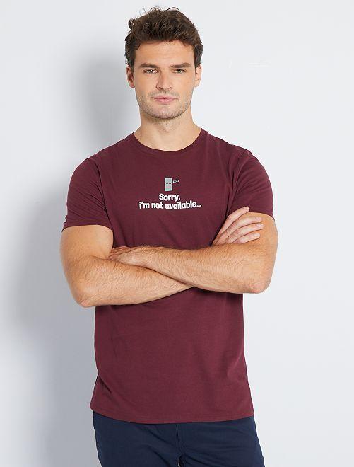 Camiseta estampada +1,90 m                                                     ROJO